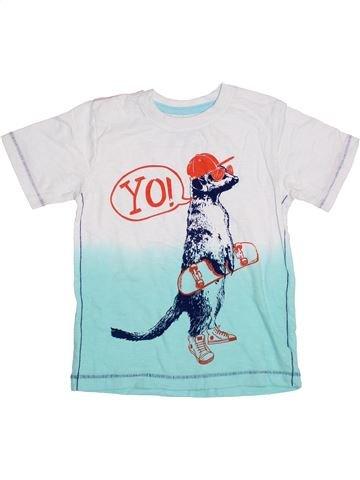 T-shirt manches courtes garçon PEP&CO blanc 6 ans été #1371673_1