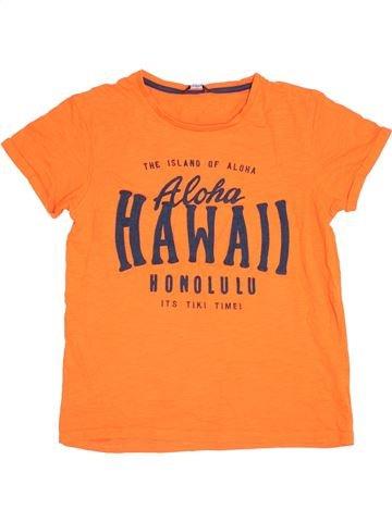 T-shirt manches courtes garçon GEORGE orange 14 ans été #1371676_1