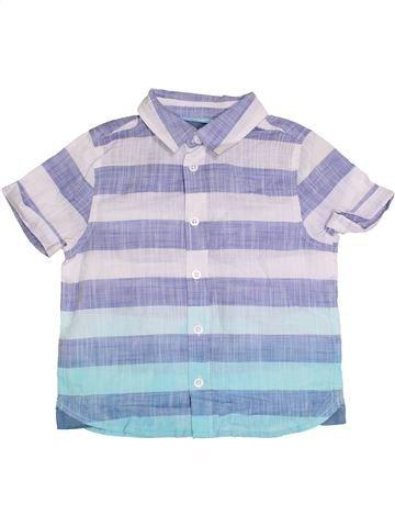 Chemise manches courtes garçon F&F bleu 4 ans été #1371678_1