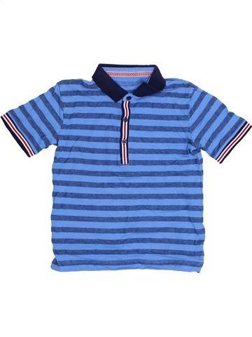 Polo de manga corta niño SANS MARQUE azul 5 años verano #1371848_1
