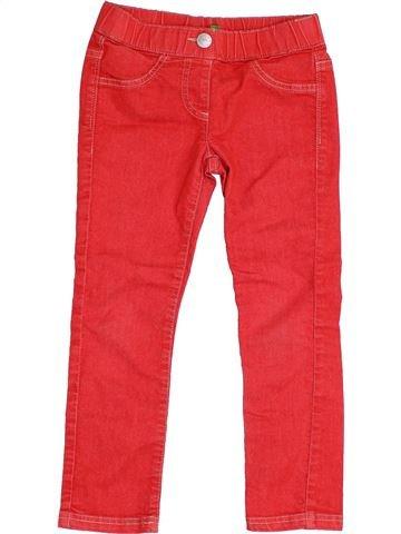 Pantalón niña BENETTON rojo 5 años verano #1372445_1