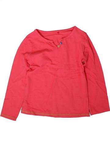 T-shirt manches longues fille GEORGE rouge 6 ans hiver #1372564_1