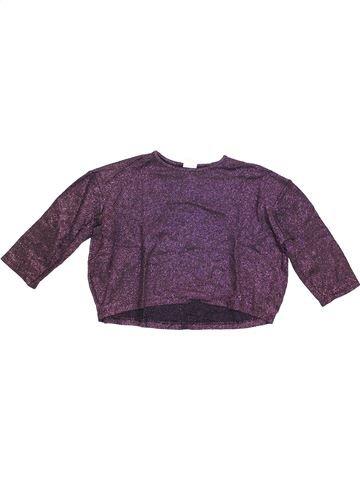 Camiseta de manga larga niña ZARA violeta 6 años invierno #1372669_1