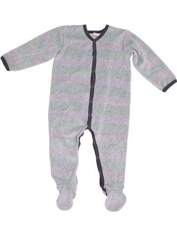 Pijama de 1 pieza niño PETIT BATEAU gris 2 años invierno #1372880_1