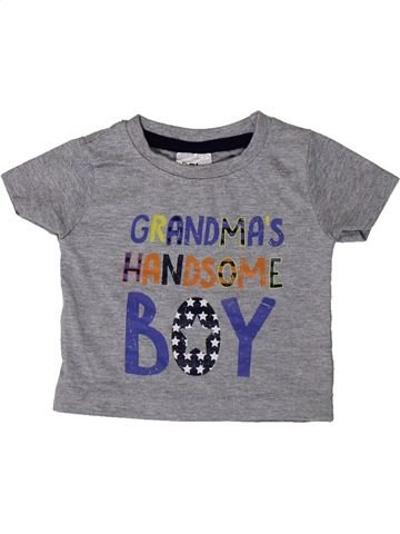 Camiseta de manga corta niño BABY gris 3 meses verano #1373364_1