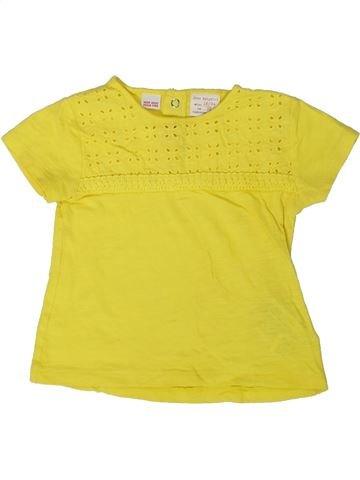 Camiseta de manga corta niña ZARA amarillo 2 años verano #1373669_1