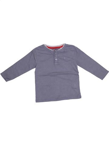 Camiseta de manga larga niño OKAIDI gris 2 años invierno #1374615_1