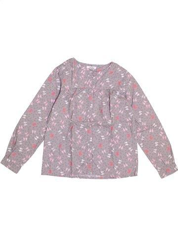 Blusa de manga larga niña OKAIDI gris 8 años invierno #1374718_1