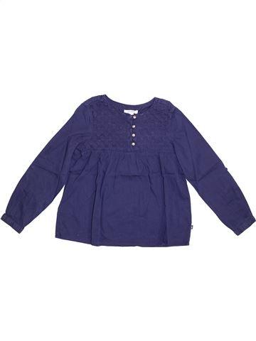 Blusa de manga larga niña OKAIDI azul 8 años invierno #1374723_1