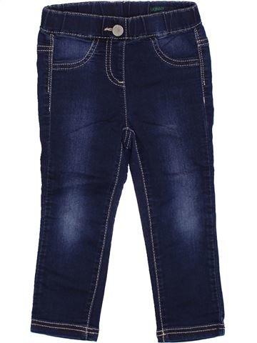 Pantalón niña BENETTON azul 2 años invierno #1374782_1