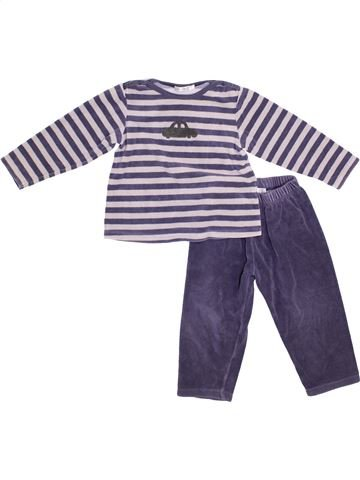 Pijama de 2 piezas niño BOUT'CHOU blanco 2 años invierno #1374866_1