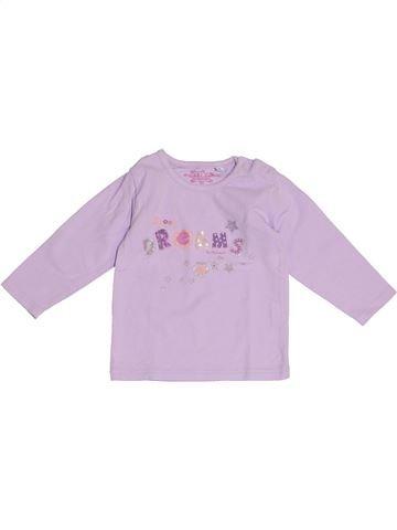 T-shirt manches longues fille ALPHABET violet 9 mois hiver #1375045_1