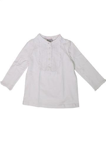 Camiseta de manga larga niña CYRILLUS blanco 3 años invierno #1375313_1