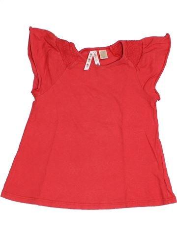 Camiseta de manga corta niña OKAIDI rojo 4 años verano #1375362_1