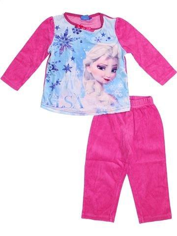 Pijama de 2 piezas niña DISNEY blanco 3 años invierno #1375373_1