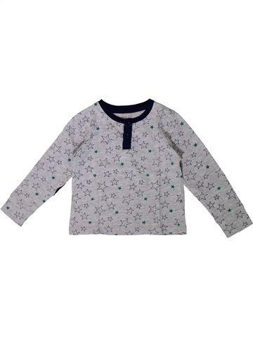 Camiseta de manga larga niño MONOPRIX gris 3 años invierno #1375484_1