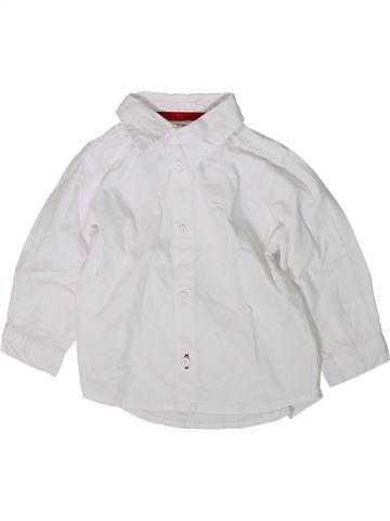 Chemise manches longues garçon KIMBALOO blanc 12 mois hiver #1376135_1