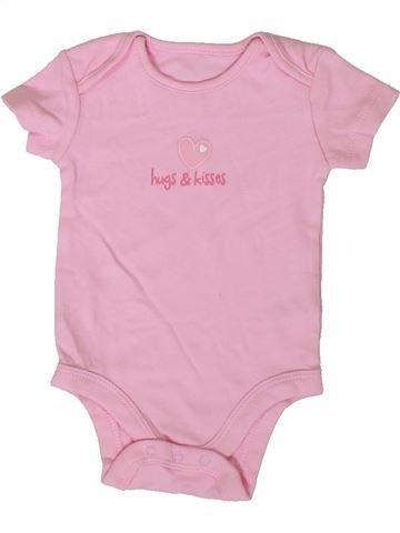 T-shirt manches courtes fille BABY rose 3 mois été #1376844_1
