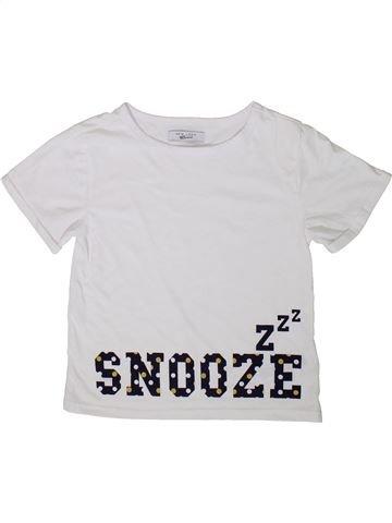 T-shirt manches courtes fille NEW LOOK blanc 8 ans été #1377652_1