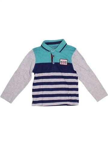 Polo manches longues garçon ORCHESTRA bleu 5 ans hiver #1379163_1