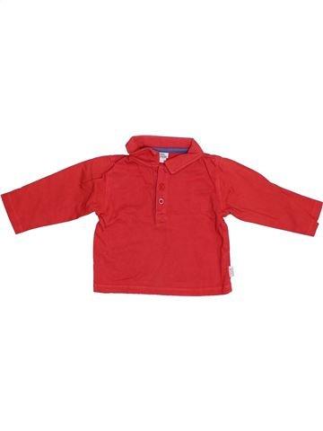 Polo manches longues garçon NANO & NANETTE rouge 6 mois hiver #1379224_1