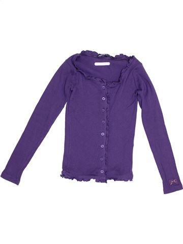 Gilet fille LILI GAUFRETTE violet 10 ans été #1379234_1