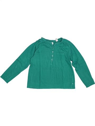 Camiseta de manga larga niña OKAIDI verde 6 años invierno #1379601_1
