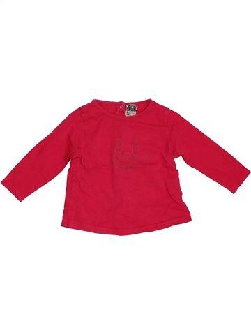 T-shirt manches longues fille TAPE À L'OEIL rouge 6 mois hiver #1380680_1