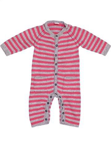 Combinación larga niña PETIT BATEAU rosa 6 meses invierno #1380740_1