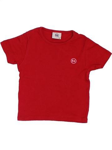 T-shirt manches courtes fille 64 rouge 2 ans été #1380982_1