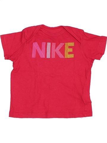 T-shirt manches courtes fille NIKE rose 12 mois été #1382579_1