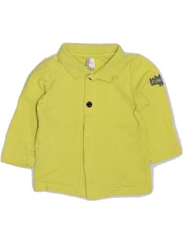 Polo manches longues garçon ORCHESTRA jaune 6 mois hiver #1383251_1