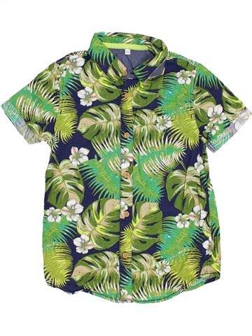 Chemise manches courtes garçon MARKS & SPENCER vert 7 ans été #1383549_1