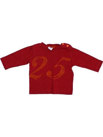 T-shirt manches longues garçon PETIT BATEAU violet 6 mois hiver #1383673_1
