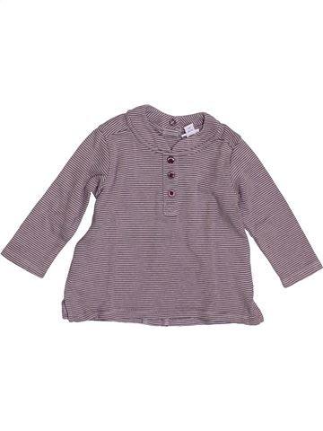 T-shirt manches longues garçon P'TIT BISOU gris 3 mois hiver #1384429_1