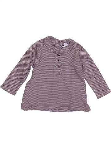 Camiseta de manga larga niño P'TIT BISOU gris 3 meses invierno #1384429_1