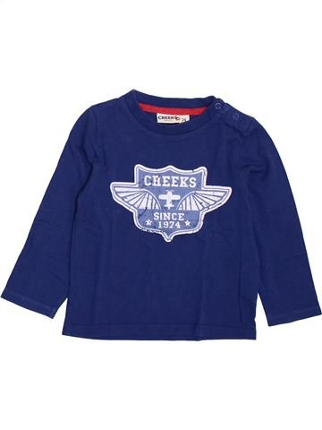 T-shirt manches longues garçon CREEKS bleu 2 ans hiver #1385617_1
