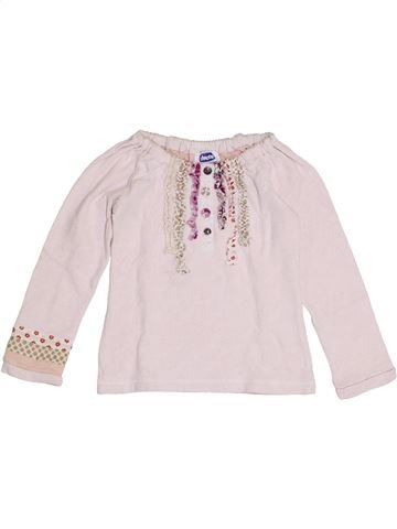 T-shirt manches longues fille CHICCO blanc 2 ans hiver #1386099_1