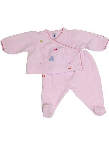 Pijama de 2 piezas niña PETIT BATEAU blanco 3 meses invierno #1386500_1