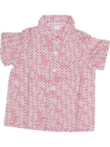 Chemise manches courtes garçon VERTBAUDET rose 6 mois été #1386762_1