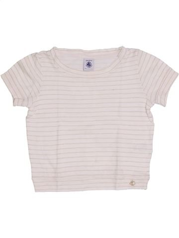 T-shirt manches courtes fille PETIT BATEAU blanc 3 ans été #1387292_1