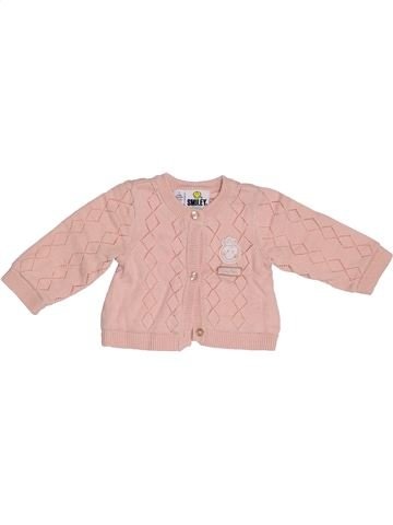 Gilet fille SMILEY rose 1 mois hiver #1387423_1