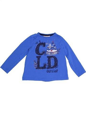 T-shirt manches longues fille BOBOLI bleu 3 ans hiver #1389058_1