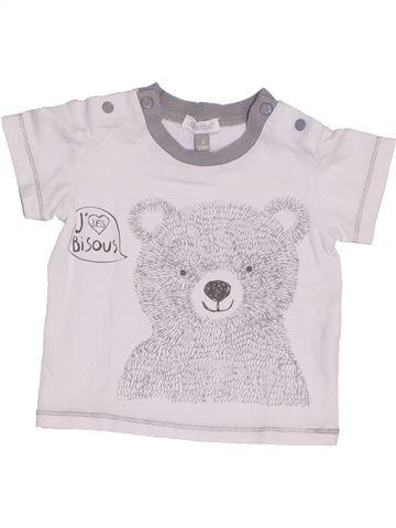 Camiseta de manga corta niño ABSORBA blanco 3 meses verano #1389419_1