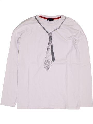 T-shirt manches longues garçon YCC-214 blanc 14 ans hiver #1389447_1