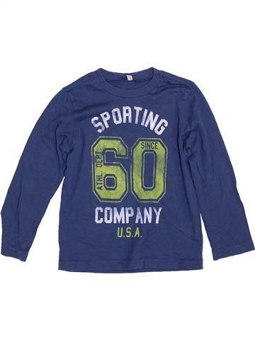 T-shirt manches longues garçon BENETTON bleu 4 ans hiver #1390037_1