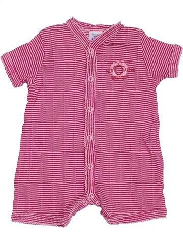 Combinaison courte fille PETIT BATEAU rose naissance été #1390559_1
