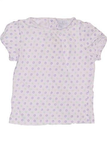 T-shirt manches courtes fille KIMBALOO blanc 12 mois été #1392427_1