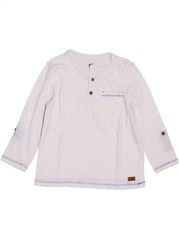 T-shirt manches longues garçon SERGENT MAJOR blanc 5 ans hiver #1392742_1