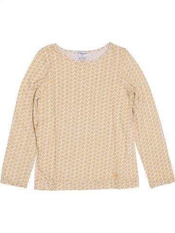 T-shirt manches longues fille CYRILLUS beige 8 ans hiver #1392983_1